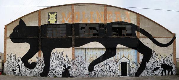 Murales - Gato negro