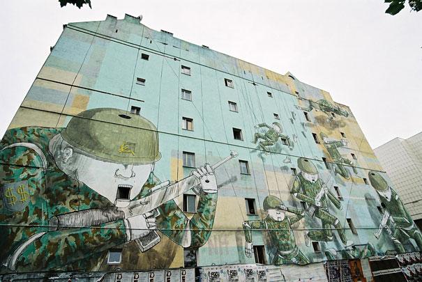 Mural en Varsovia - Guerra