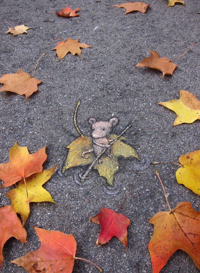 arte urbano - raton a la deriva