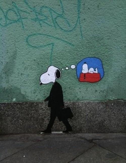 Snoopy pensando