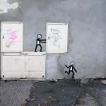 Arte urbano – Tirando cajas