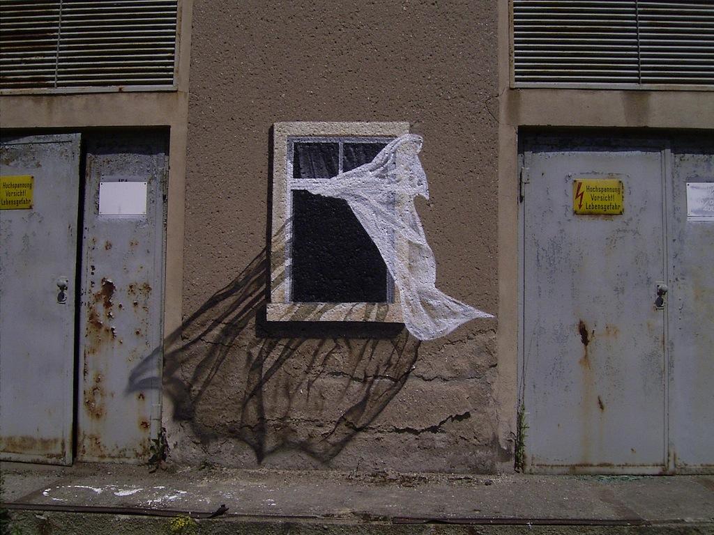 Arte urbano - Ventana pintada