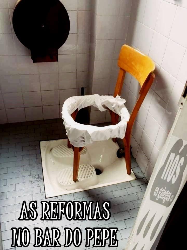 as reformas no bar do pepe