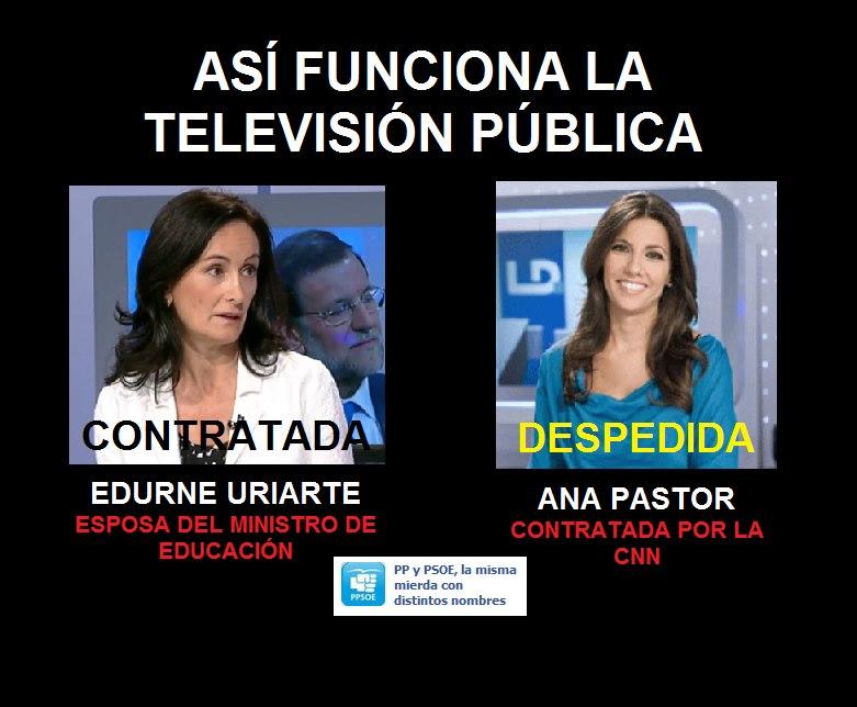 Así funciona la televisión pública con el PP