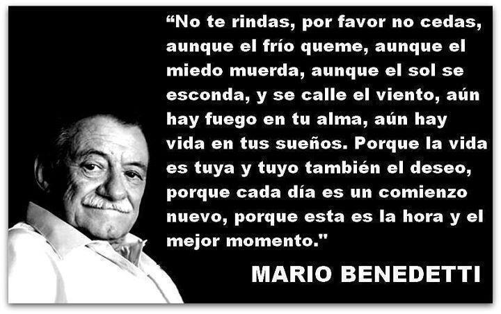 Cada día es un comienzo nuevo (Mario Benedetti)