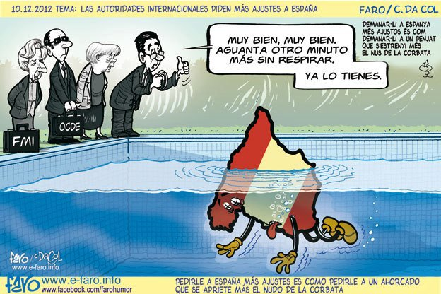 Las autoridades internacionales piden más ajustes a España