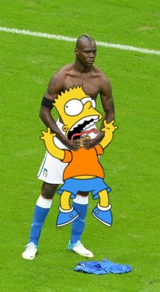 Balotelli y Bart Simpson