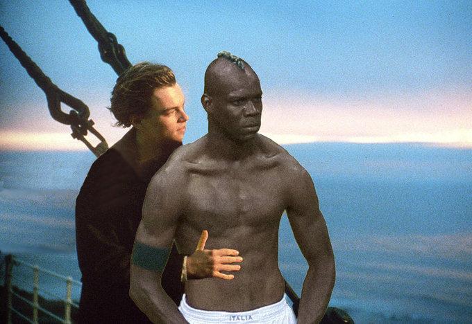 Balotelli con DiCaprio