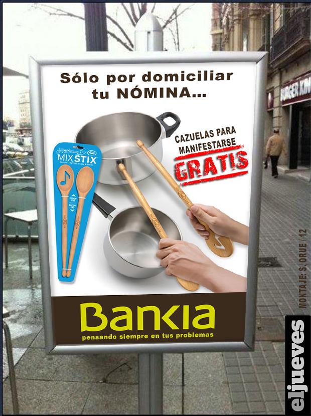 Nueva oferta de Bankia - Cazuelas para manifestarse