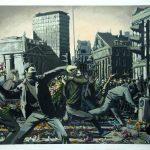 Banksy – Flores contra los antidisturbios