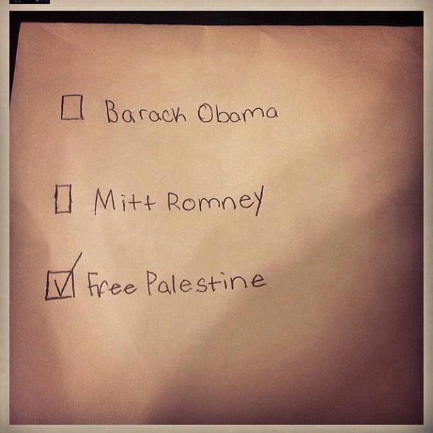 Encuesta electoral: Barack Obama, Mitt Romney o Palestina libre