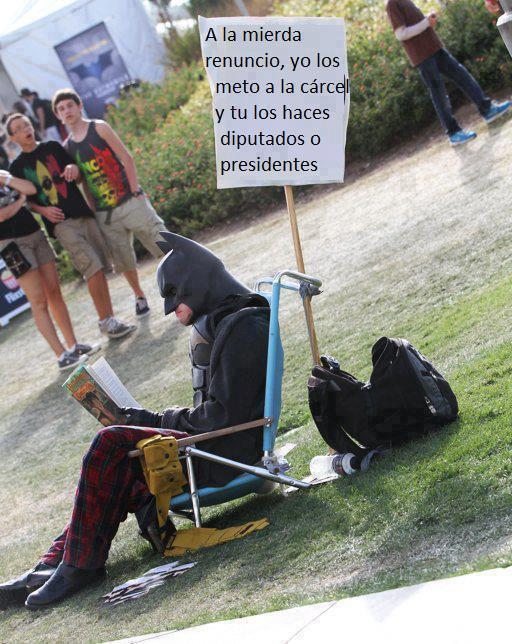 Batman en huelga