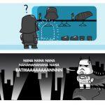Batman se disfraza de Darth Vader