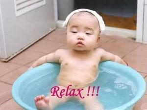 Definición gráfica de relax para un bebé