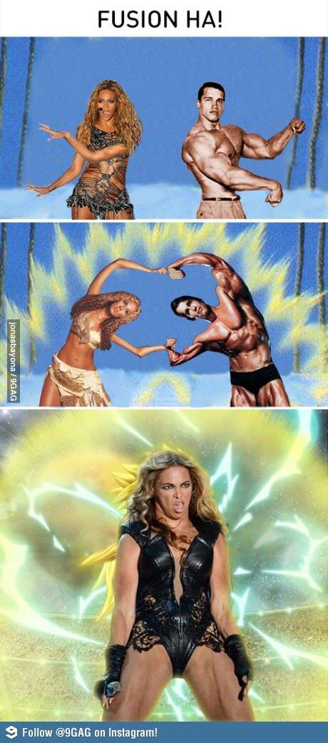 Beyoncé Superbowl - Fusión con Arnold Schwarzenegger