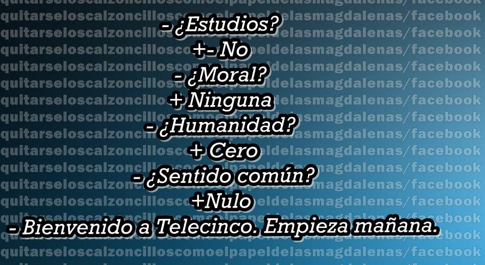 Entrevista de trabajo en Telecinco