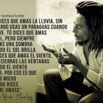 Bob Marley, sobre el amor