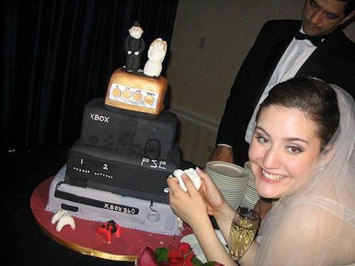 boda novios tarta consolas xbox ps2 y xbox 360