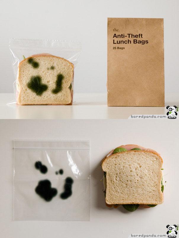 Bolsa para sandwiches anti-ladrones