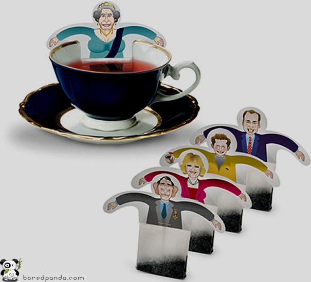 Bolsitas de té originales - Familia real británica