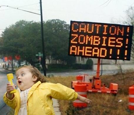 Bubble Girl - Zombies ahead