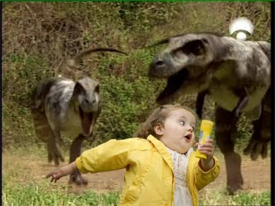 Bubble girl - Escapando de dinosaurios