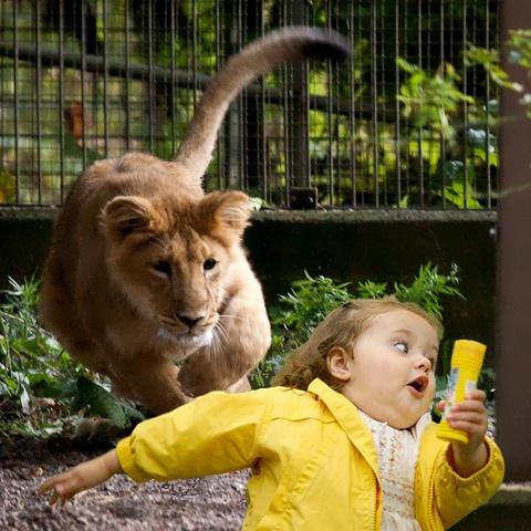 Bubble girl - Escapando de león