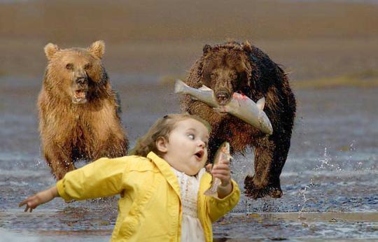Bubble Girl - Escapando de osos