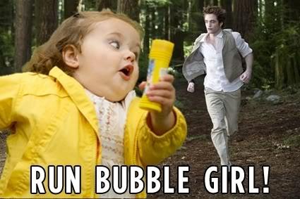 Bubble Girl - Escapando de Robert Pattinson