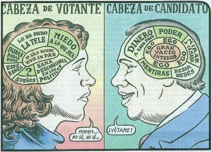 cabeza de votante - cabeza de candidato