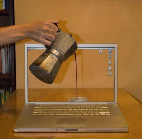 Café - pantalla portátil