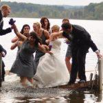 Foto de boda: Caída en el embarcadero