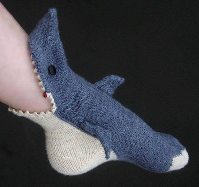 Calcetín tiburón
