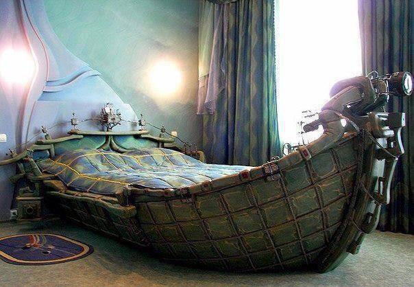 Cama barca vikinga cosas que pasan for Cama hamburguesa