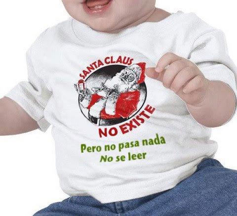 Santa Claus no existe, pero no pasa nada, no sé leer