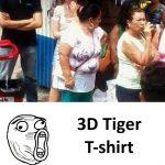 Camiseta tigre en 3D