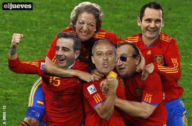 Los que han metido un gol a España