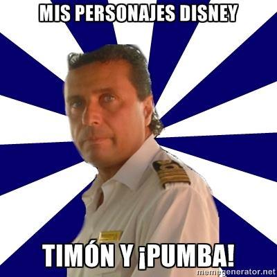 Capitán del Costa Concordia - Mis personajes de Disney favoritos