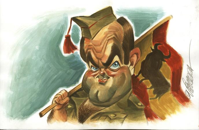 José Bono - Caricatura
