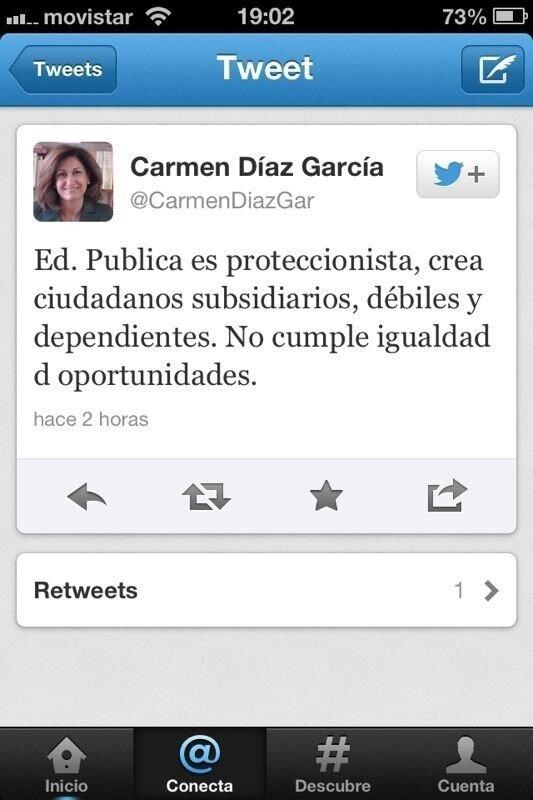 Carmen Díaz García, sobre la educación pública