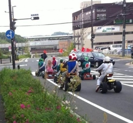Carrera Mario Kart real