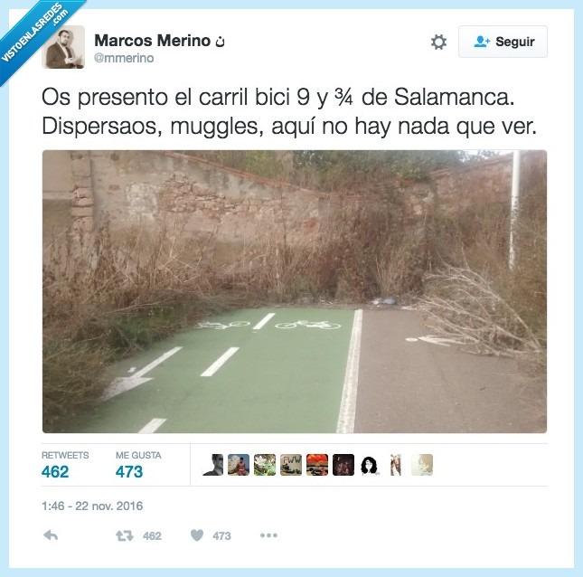 Carril Bici de Salamanca: Dispersaos, muggles