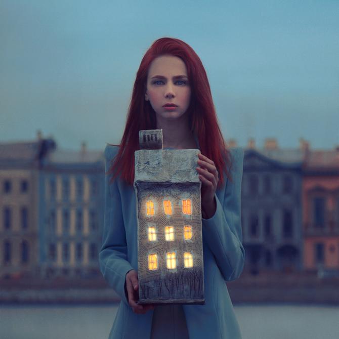 Casa con luces
