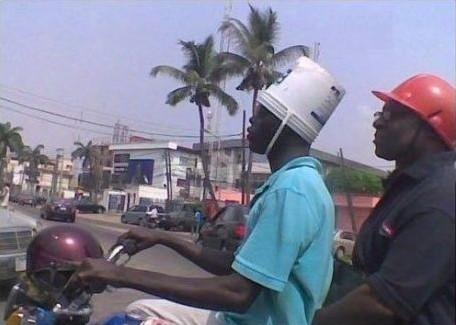 Casco de moto casero
