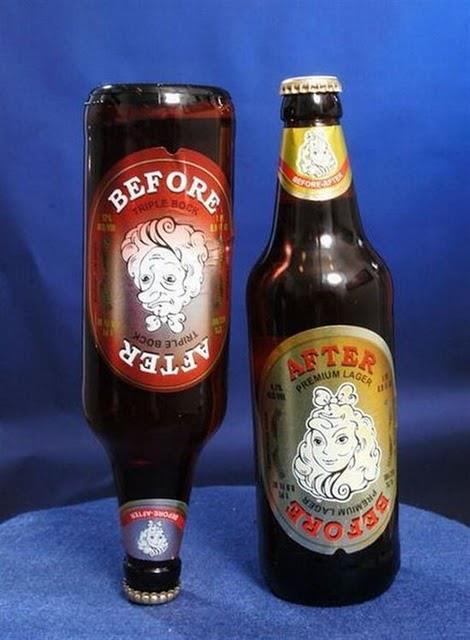 Cerveza after before