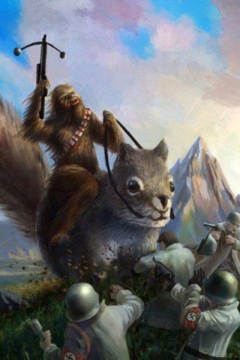 Chewbacca vs nazis