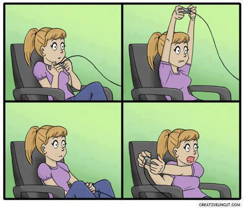 Chicas y gamepads