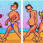 Cuando dos jóvenes se cruzan por la playa…