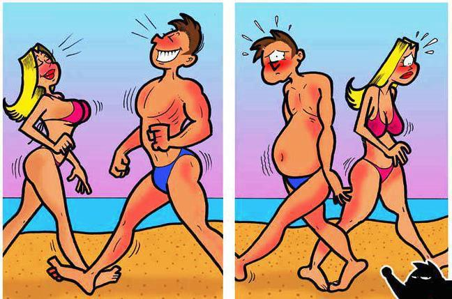 Cuando dos jóvenes se cruzan por la playa...