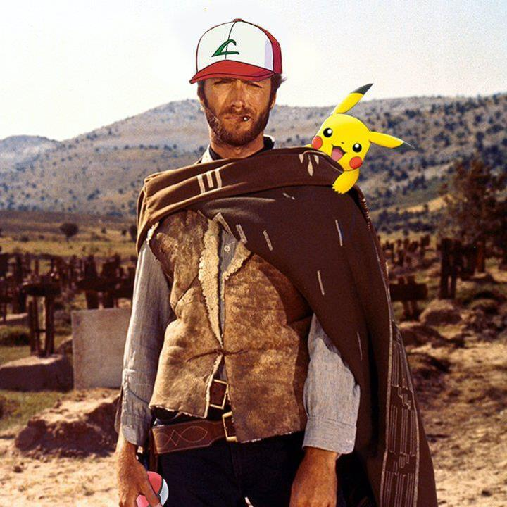 Clint Eastwood con Picachu